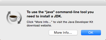 Mac OS X Java prompt