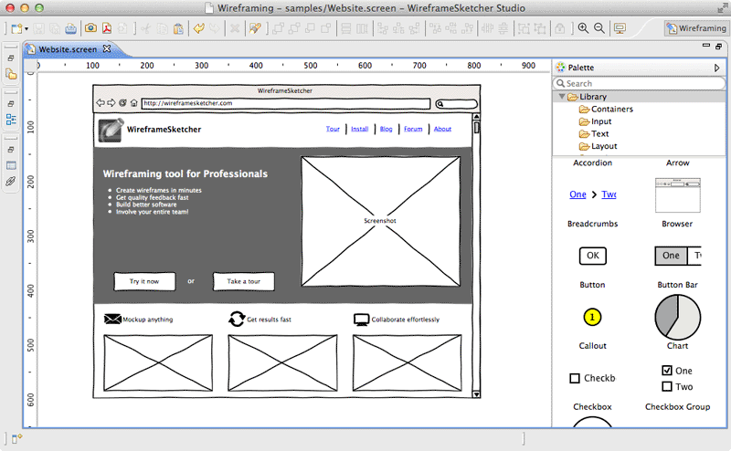 Create Website wireframes, mockups, prototypes