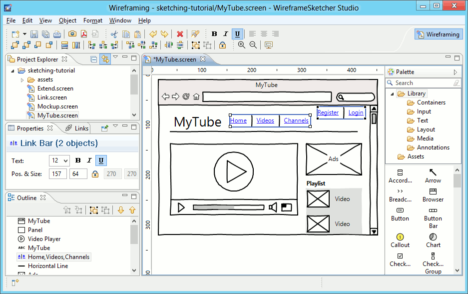 WireframeSketcher Wireframing Tool 4.6.4